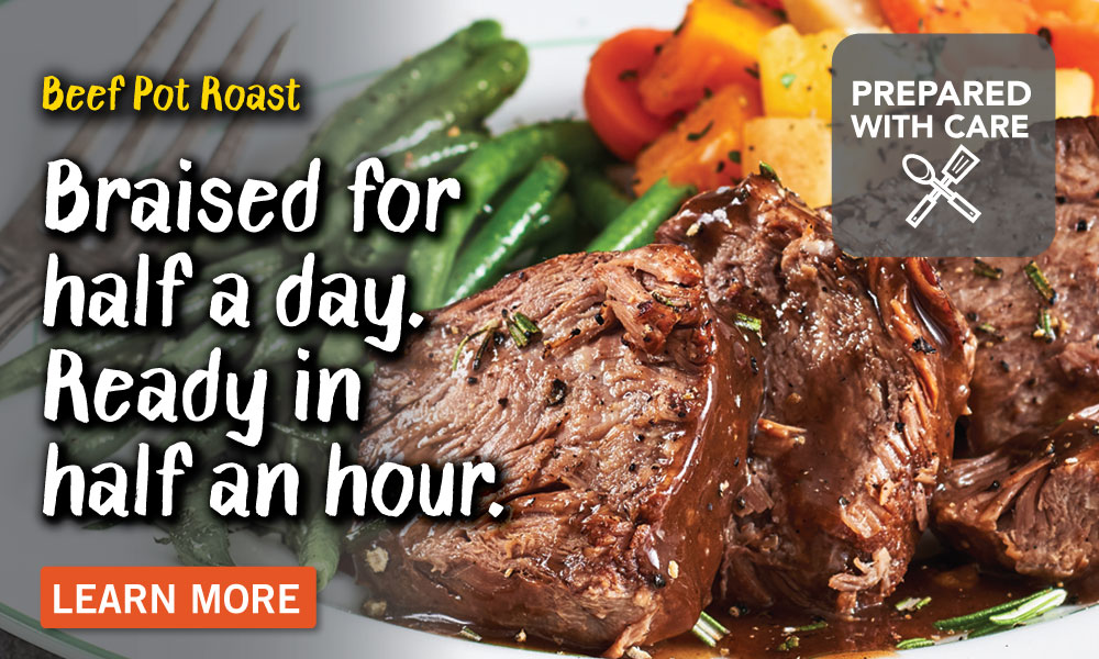 How our Beef Pot Roast is prepared with care.