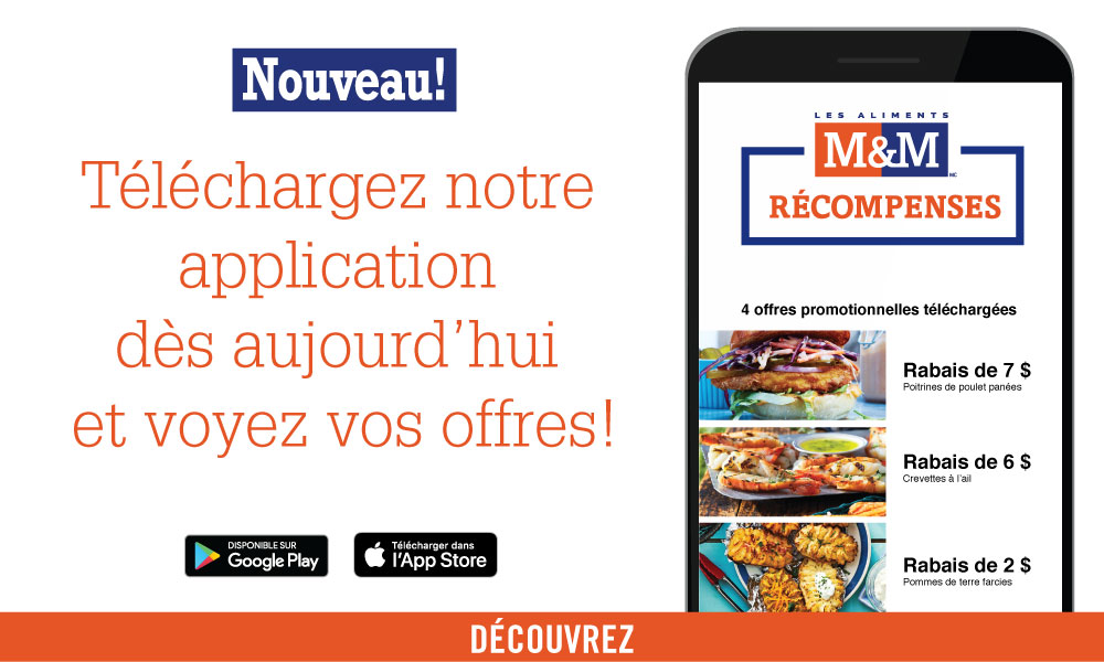 Lancement l'application Les Aliments M&M
