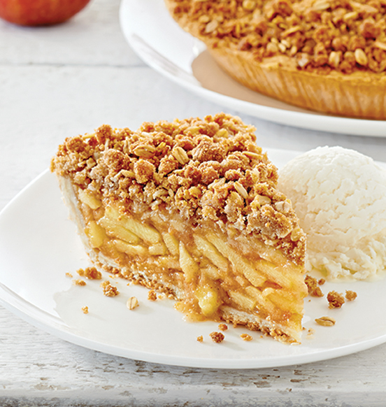 Homestyle Apple Crumble Pie