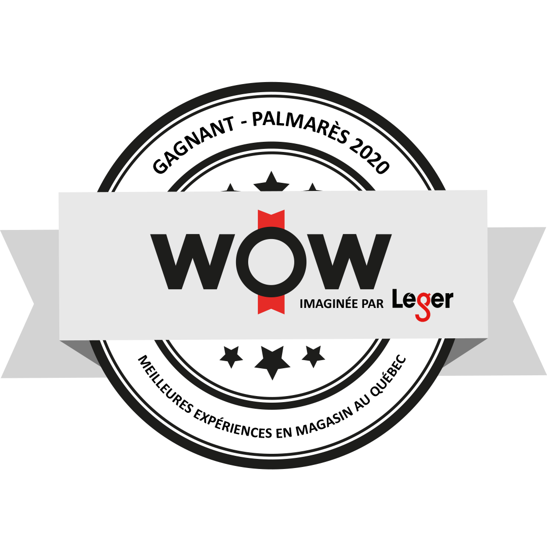 Gagnant - Palmares 2020 WOW meilleures experiences en magasin au quebec