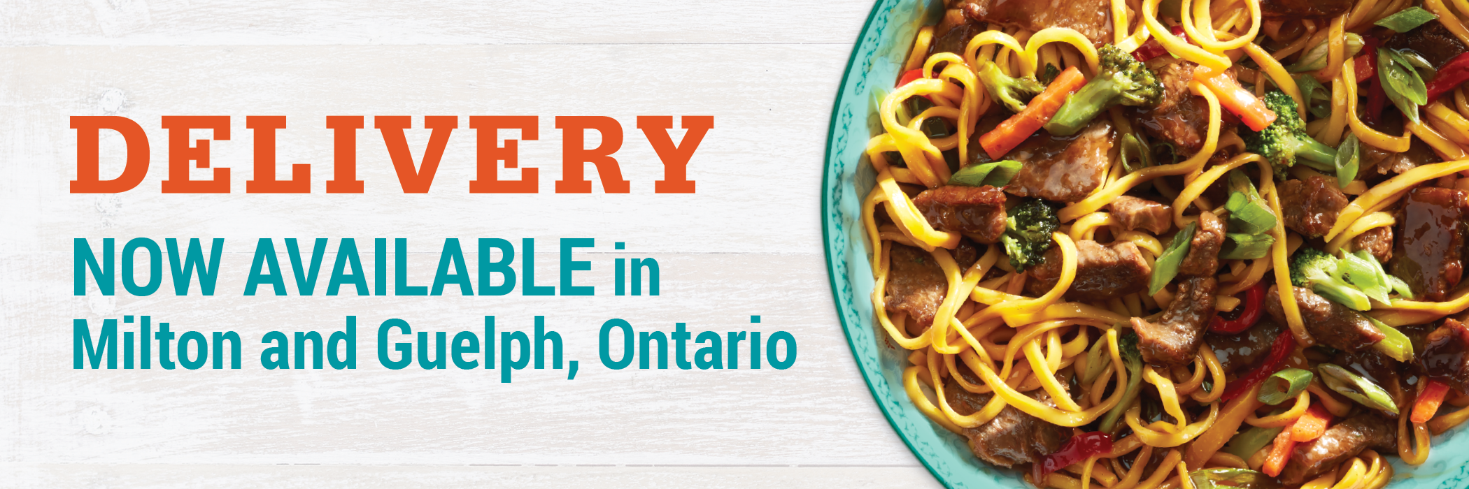 Delivery now available in Milton and Guelph, Ontario