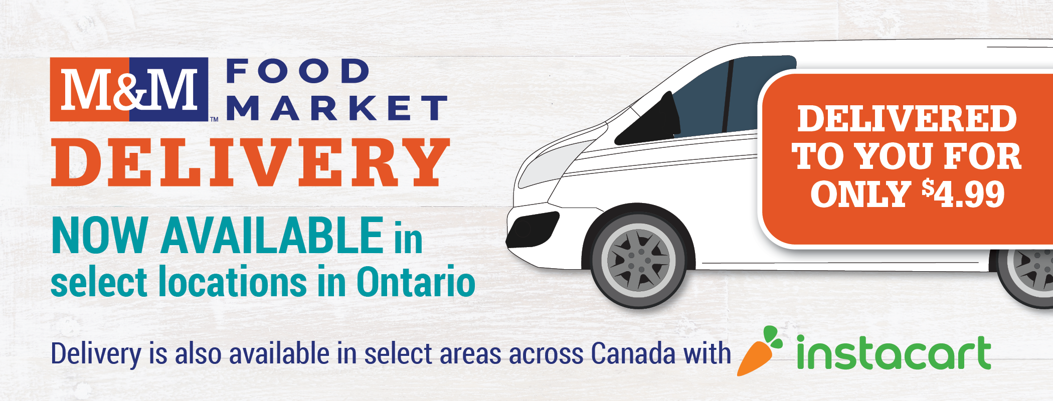 M&M Food Market Delivery now available in select locations in Ontario