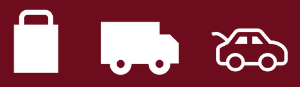 Shopping bag Delivery Turck and Car Icon