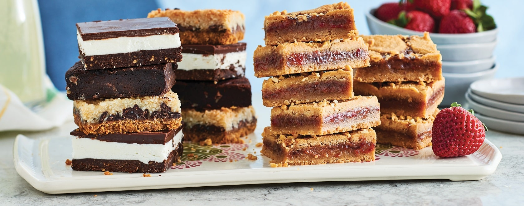 A group of vegan gluten-free dessert bars