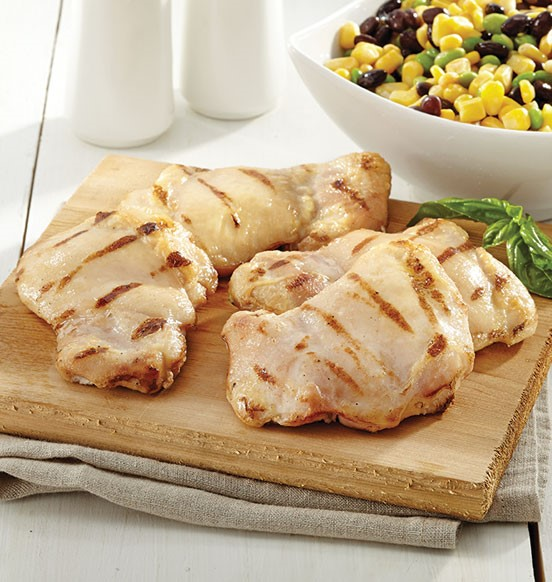 cuisses de poulet faibles en gras