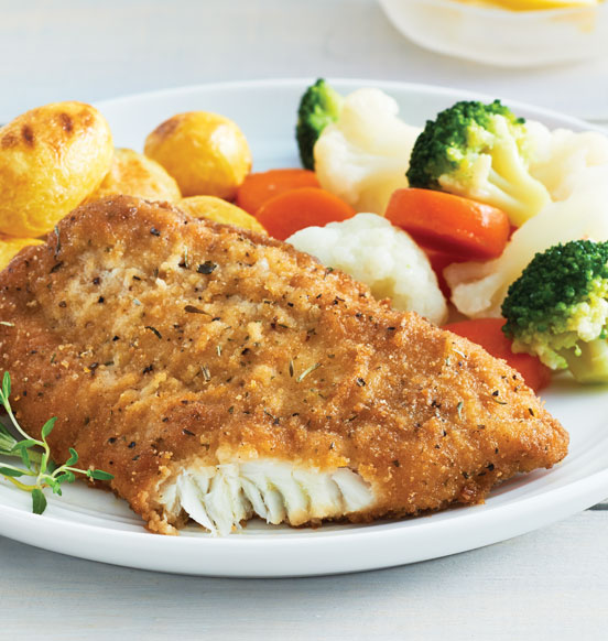 Lightly Crusted Herb and Onion Cod