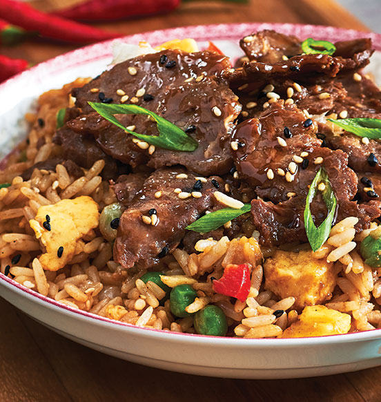 Japanese-Style Fried Rice and Beef